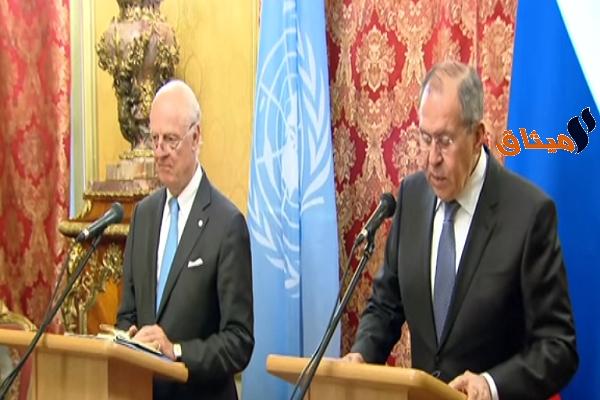 Iوزير الخارجية الروسي:أمريكا وبريطانيا وفرنسا أغارت على مفاوضات جنيف