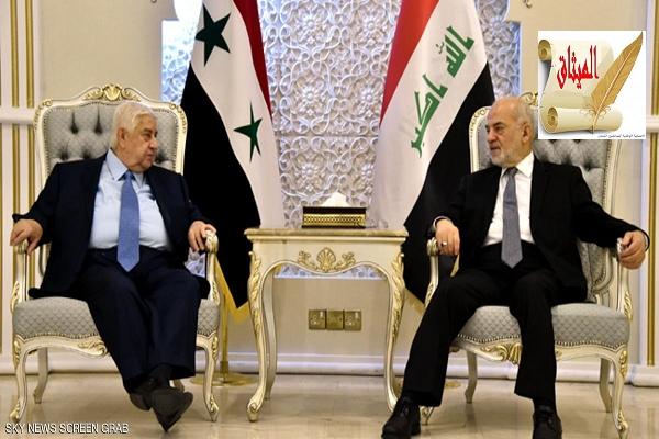 Iالمعلم يلتقي نظيره العراقي في بغداد