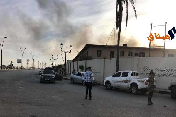 Iليبيا:أكثر من 50 شخصا بين قتيل وجريح في اشتباكات مسلحة قرب مطار معيتقية بطرابلس