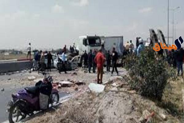 Iالحصيلة قابلة للإرتفاع: 3 قتلى و10 جرحى في حادث بالطريق السيارة صفاقس سوسة