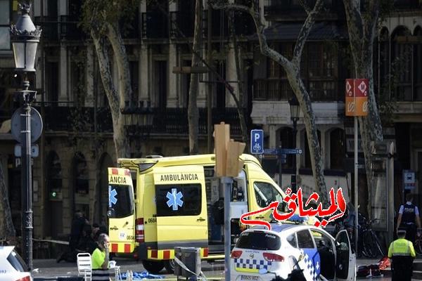 Iالشرطة الإسبانية: قتلى وجرحى في حادث دهس وسط برشلونة