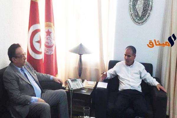 Iلقاء حافظ قايد السبسي بنور الدين الطبوبي::الاتفاق على تغيير شامل و عميق للحكومة